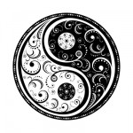 beautiful swirl yin and yang