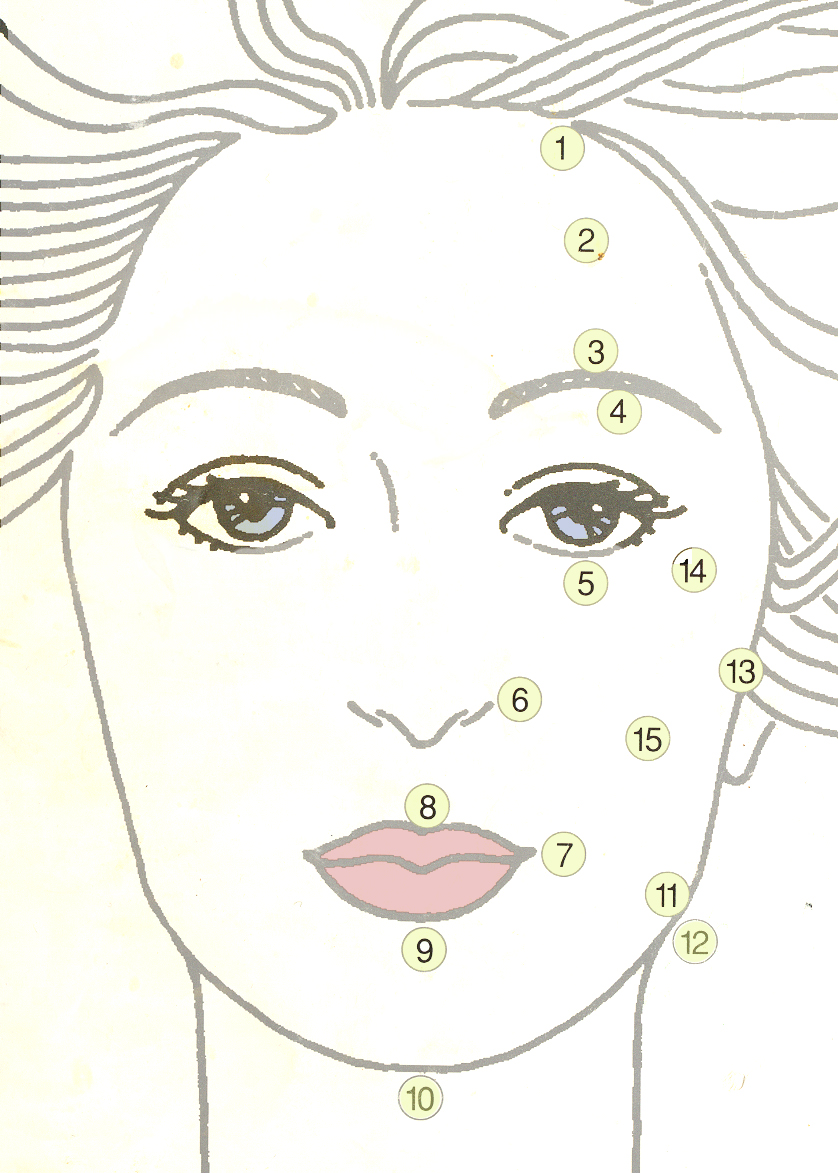 Acupuncture Chart Face - Acupuncture Acupressure Points